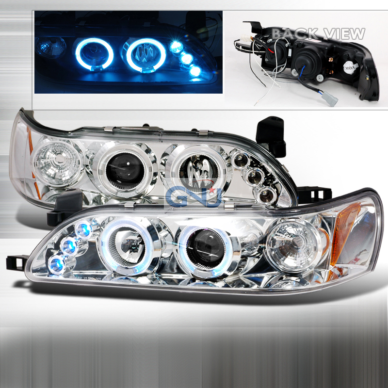 Toyota Corolla  1993-1997 Chrome Halo Projector Headlights  W/LED'S
