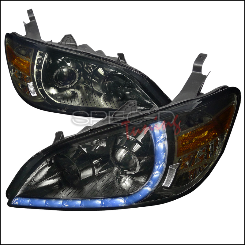 Honda Civic  2004-2005 Smoke R8 Style Projector Headlights