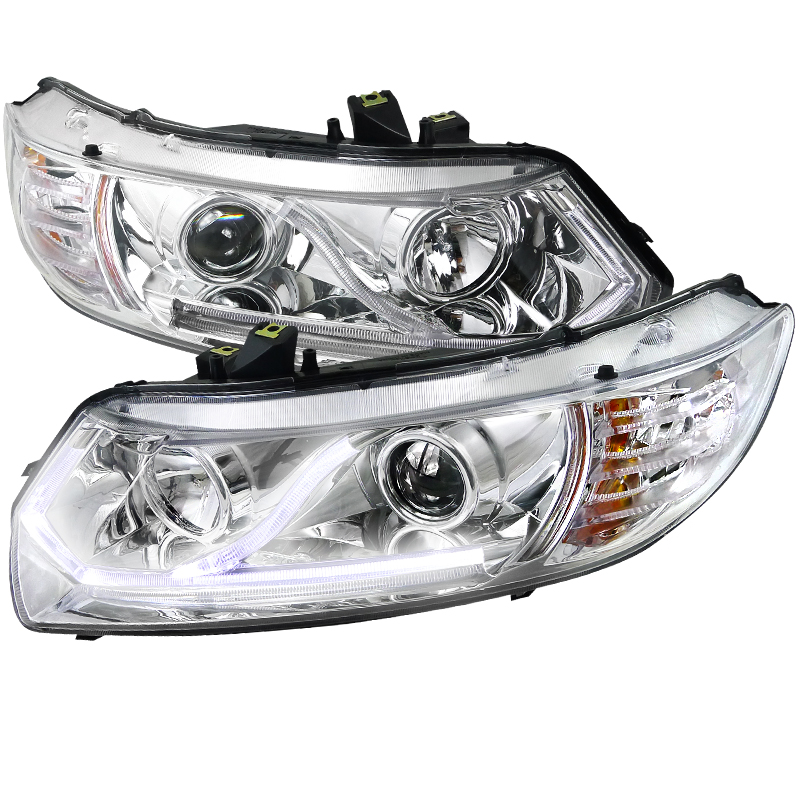 Honda Civic  2006-2009 Chrome  Projector Headlights