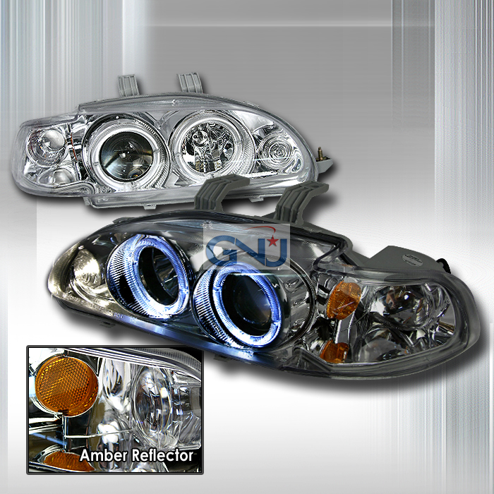 Honda Civic 4 Door 1992-1995 Chrome Halo Projector Headlights