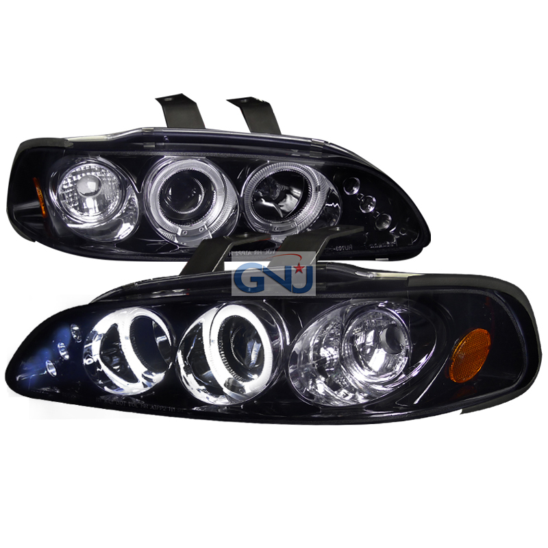 Honda Civic 2/3 Door 1992-1995 Gloss Black  Projector Headlights Smoke Lens