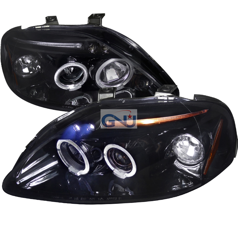 Honda Civic  1999-2000 Gloss Black  Projector Headlights