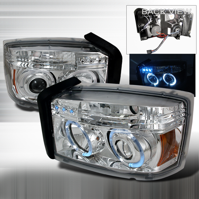 Dodge Dakota 2005-2007 Chrome Projector Headlights