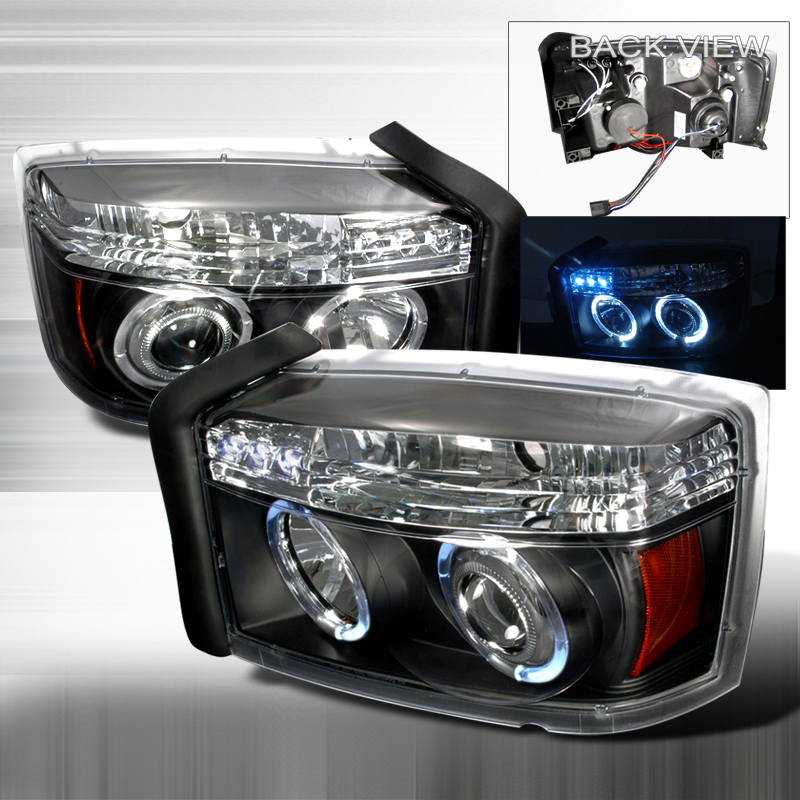 Dodge Dakota 2005-2007 Black Projector Headlights