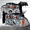 2001 Dodge Durango   Chrome Halo Projector Headlights  W/LED'S