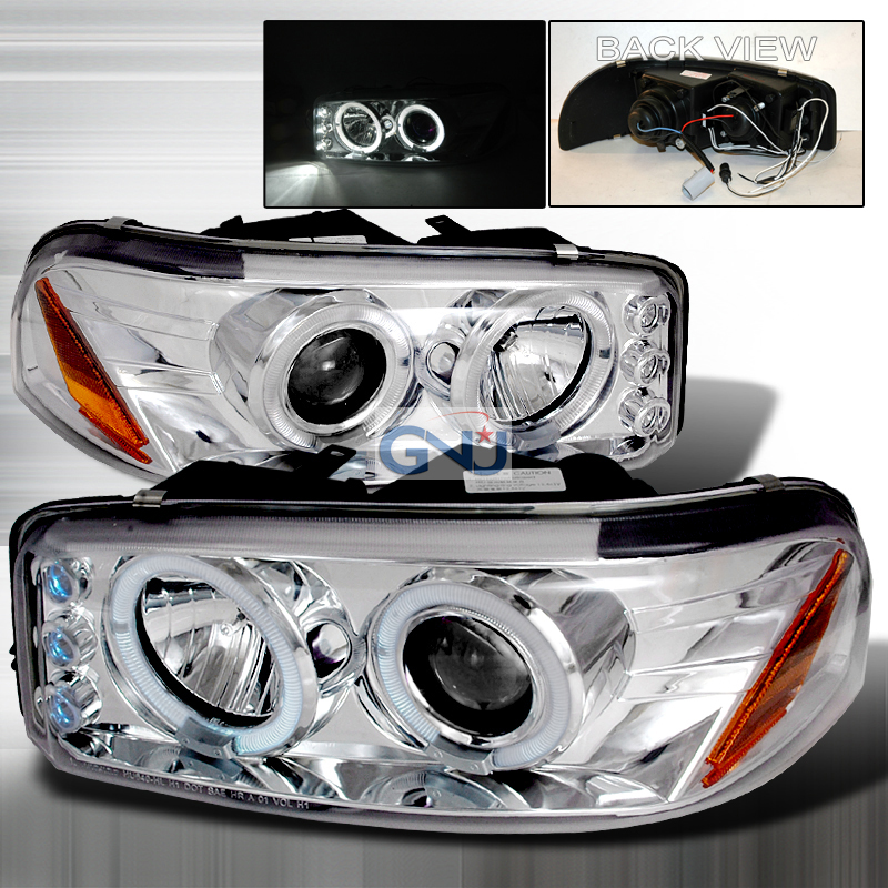 Gmc Denali  2000-2006 Chrome Halo Projector Headlights  W/LED'S