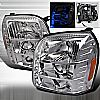 2009 Gmc Denali   Chrome Halo Projector Headlights  W/LED'S