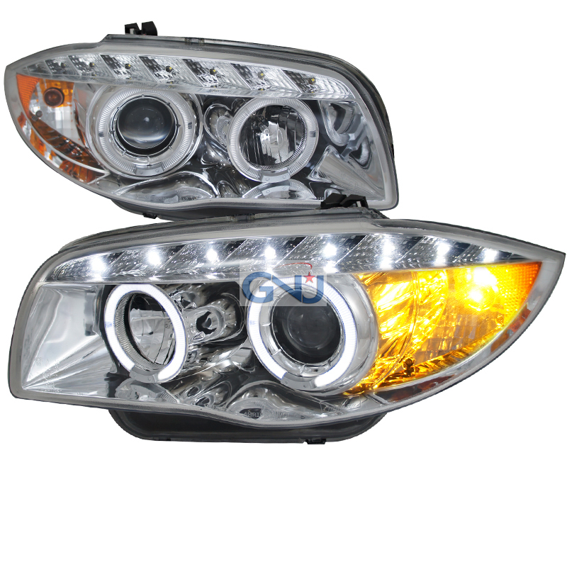 Bmw 1-Series E87 2008-2011 Chrome  Projector Headlights