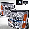 Cadillac Escalade  2002-2006 Chrome  Projector Headlights