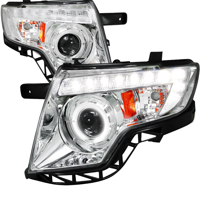 Ford Edge  2007-2010 Chrome  Projector Headlights