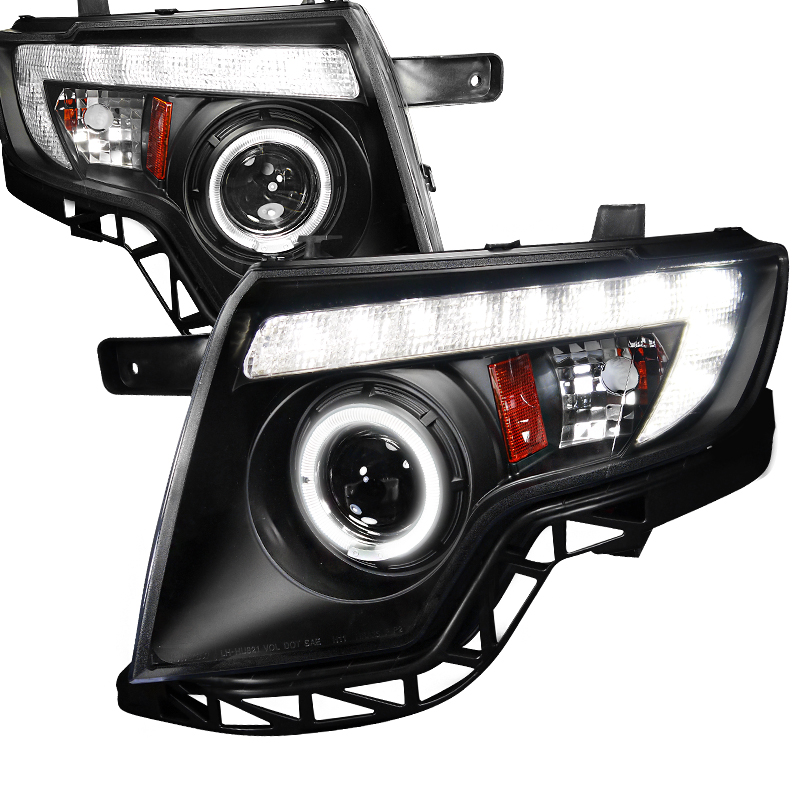 Ford Edge  2007-2010 Black  Projector Headlights
