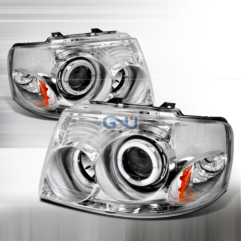 Ford Expedition  2003-2006 Chrome Halo Projector Headlights