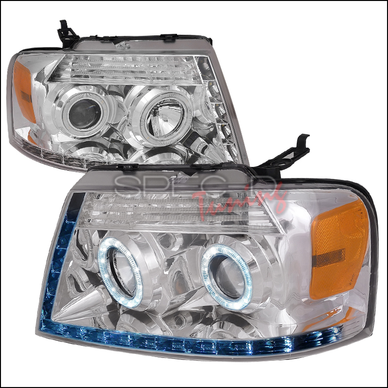 Ford F150  2004-2008 Chrome R8 Style Projector Headlights