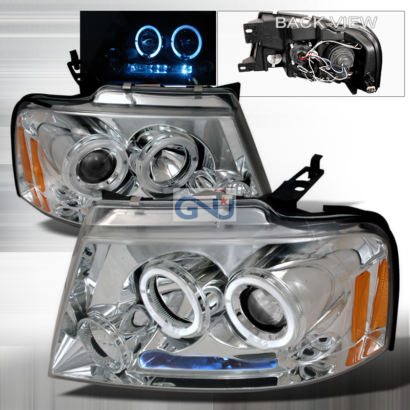 Ford F150  2004-2008 Chrome Halo Projector Headlights  W/LED'S