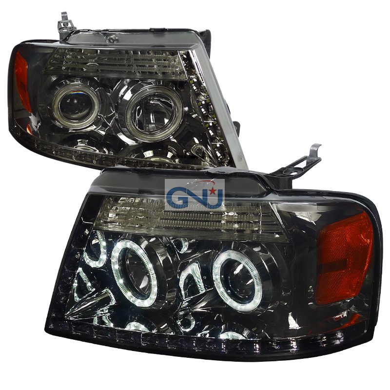Ford F150  2004-2008 Smoke R8 Style Projector Headlights