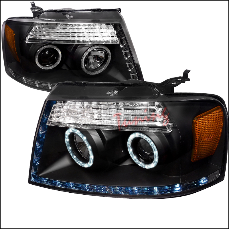 Ford F150  2004-2008 Black R8 Style Projector Headlights