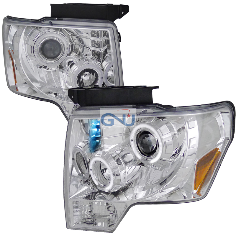 Ford F150  2009-2011 Chrome Dual Halo Projector Headlights  W/LED'S