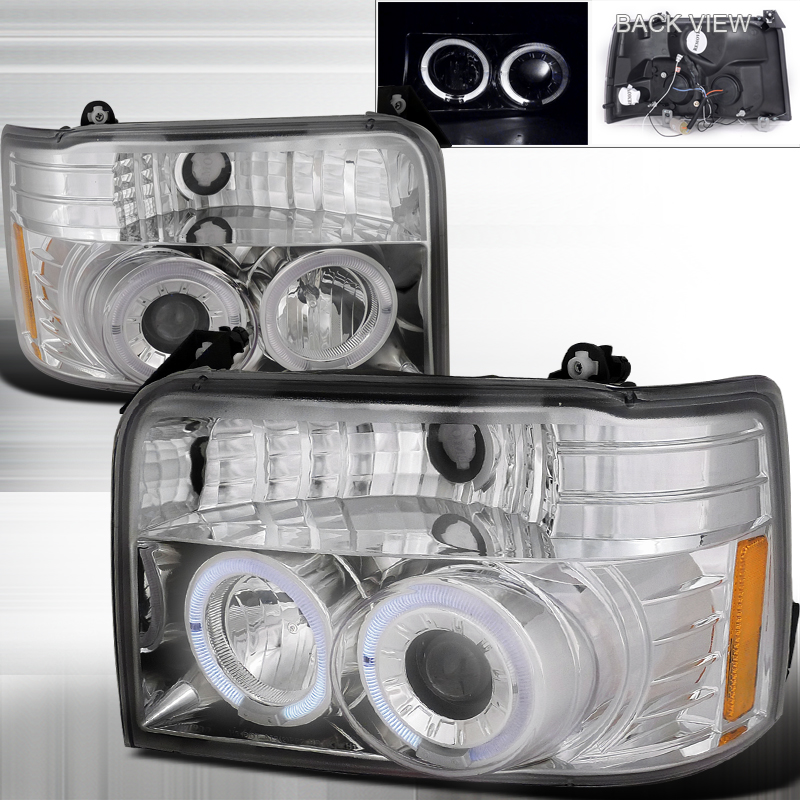 Ford F150  1992-1996 Chrome  Projector Headlights