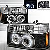 1992 Ford F150   Black  Projector Headlights