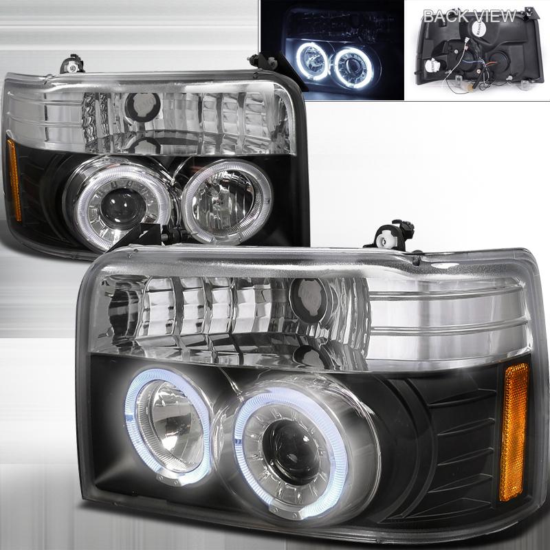 Ford F150  1992-1996 Black  Projector Headlights