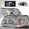 2000 Ford Expedition   Chrome Halo Projector Headlights  W/LED&apos;S