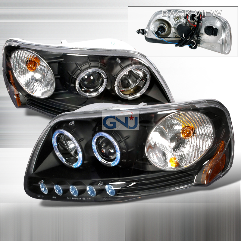 Ford F150  1997-2003 Black Halo Projector Headlights