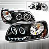 2000 Ford Expedition   Black Halo Projector Headlights  