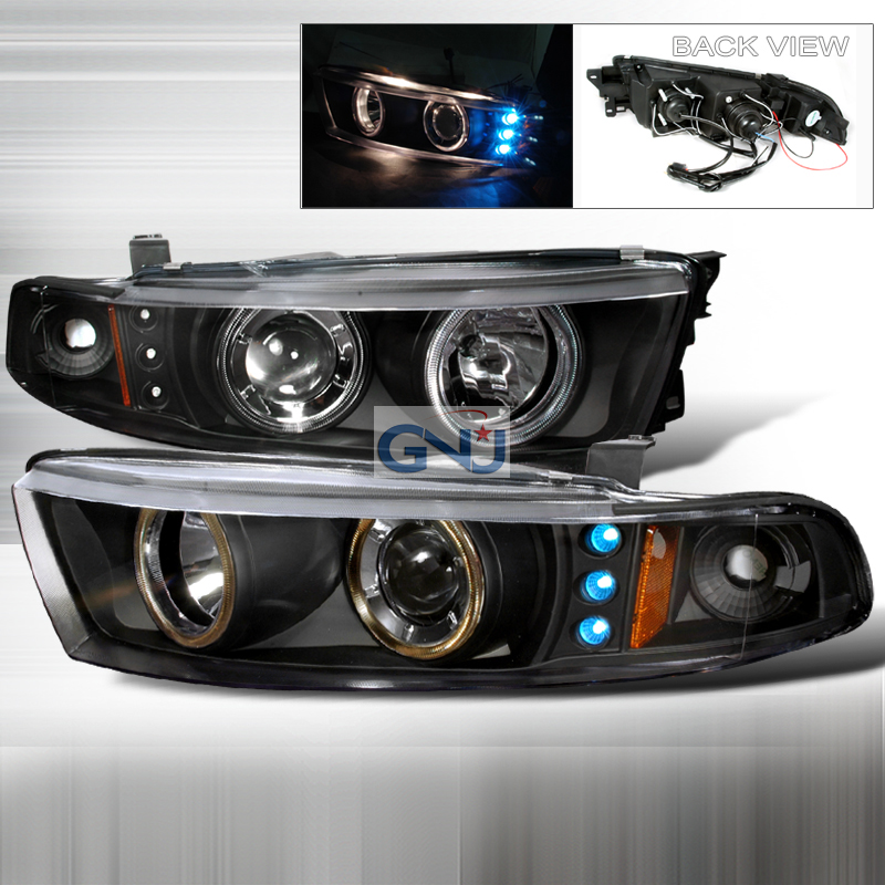 Mitsubishi Galant  1999-2002 Black  Projector Headlights