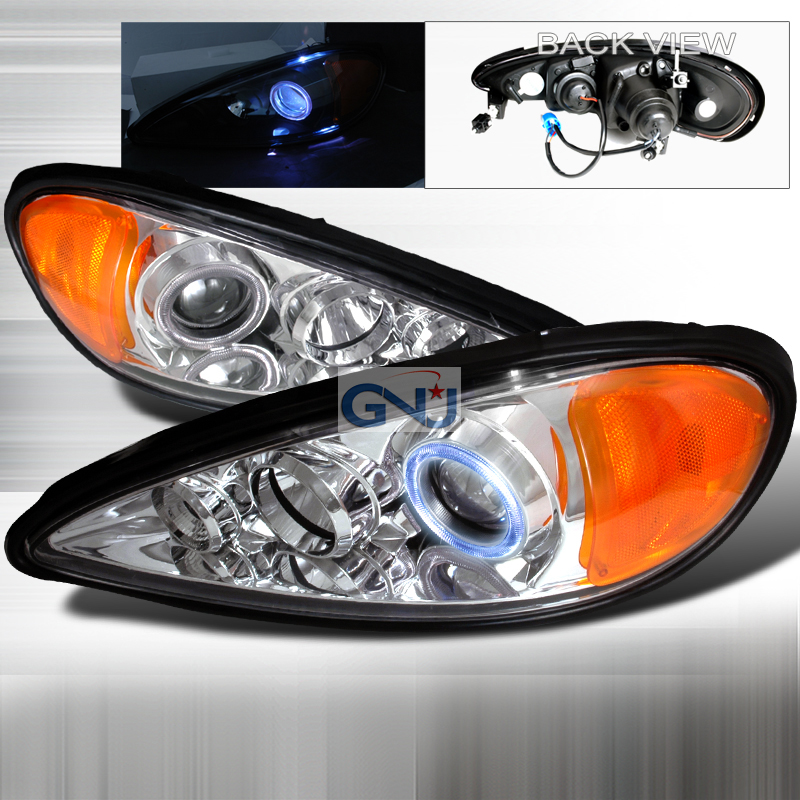 Pontiac Grand Am  1999-2005 Chrome Halo Projector Headlights