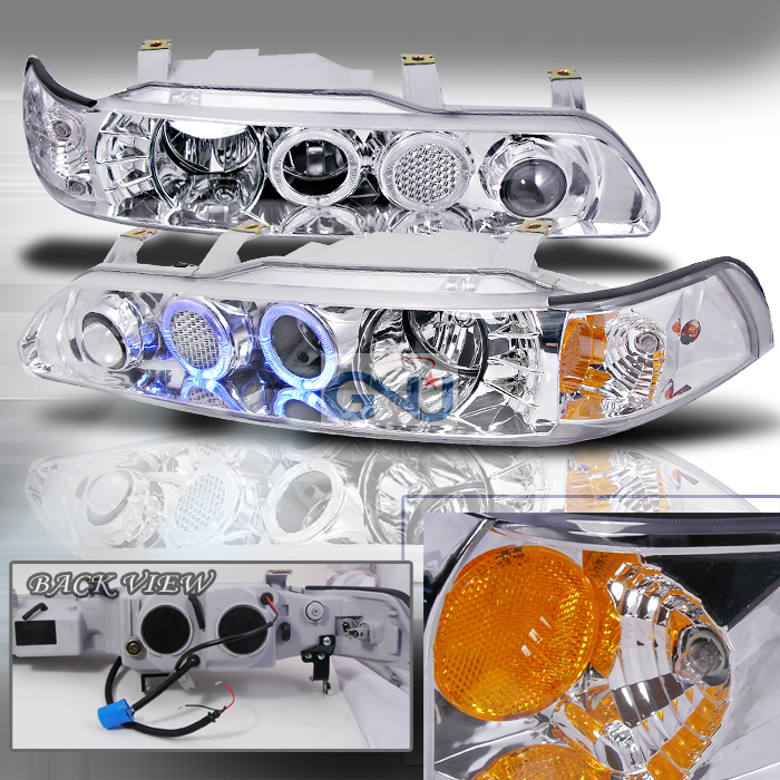 Acura Integra  1990-1993 Chrome Halo Projector Headlights