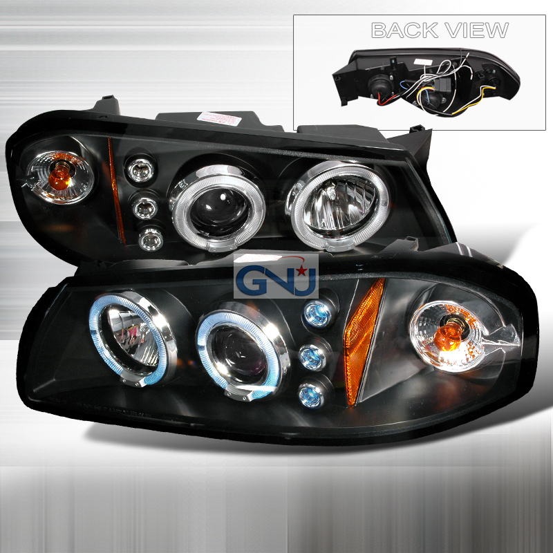 Chevrolet Impala  2000-2005 Black Halo Projector Headlights  W/LED'S