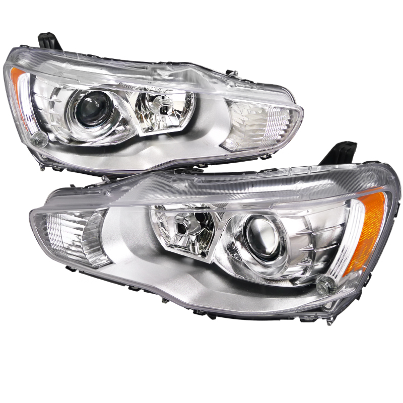 Mitsubishi Lancer  2008-2012 Chrome  Projector Headlights