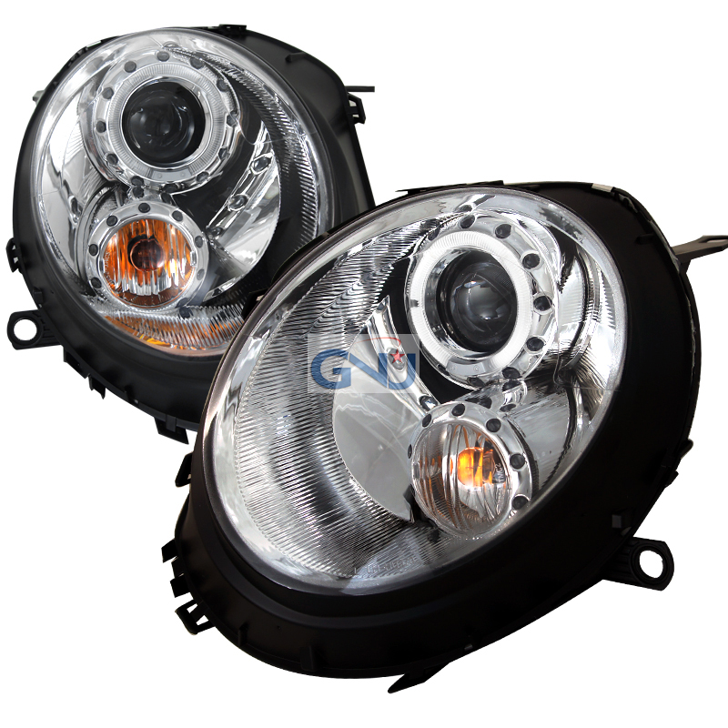 Mini Cooper  2007-2012 Chrome  Projector Headlights