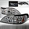 Ford Mustang  1994-1998 Chrome Halo Projector Headlights  W/LED'S