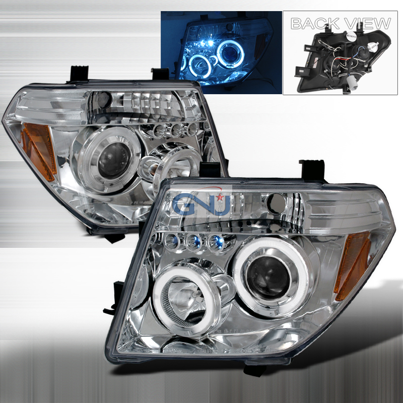 Nissan Pathfinder  2005-2008 Chrome Halo Projector Headlights  W/LED'S