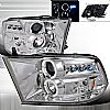 Dodge Ram  2009-2012 Chrome  Projector Headlights