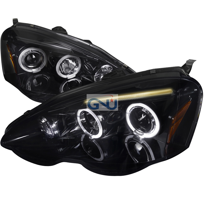Acura RSX  2002-2004 Gloss Black  Projector Headlights Smoke Lens