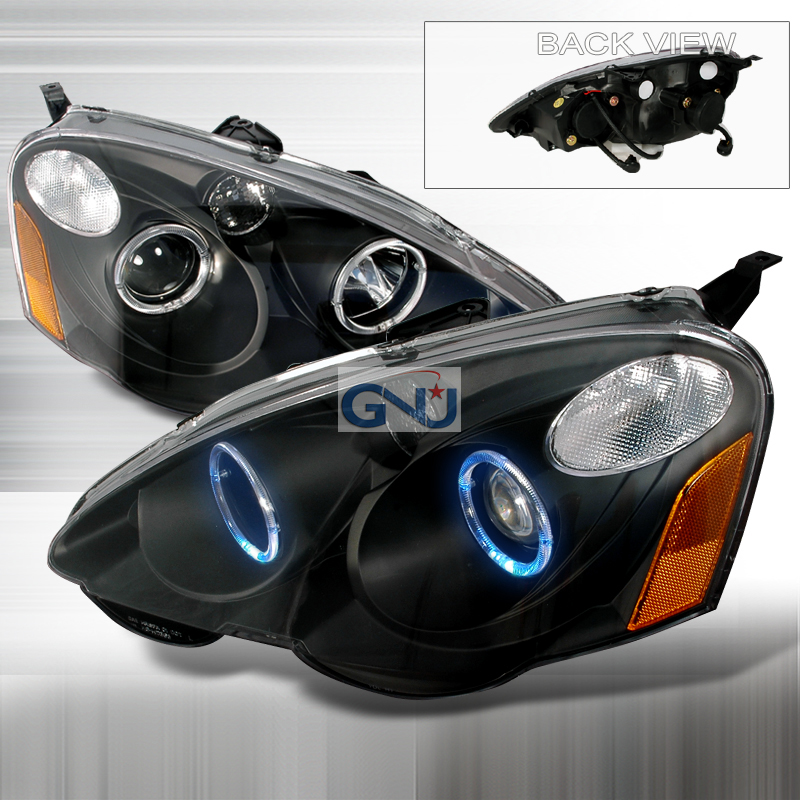Acura RSX 2002-2004 Black Halo Projector Headlights By