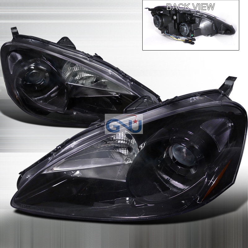 Acura RSX  2005-2006 Black Halo Projector Headlights