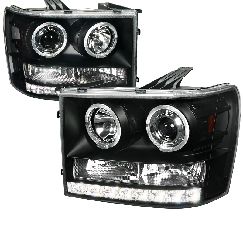 Gmc Sierra  2007-2012 Black  Projector Headlights