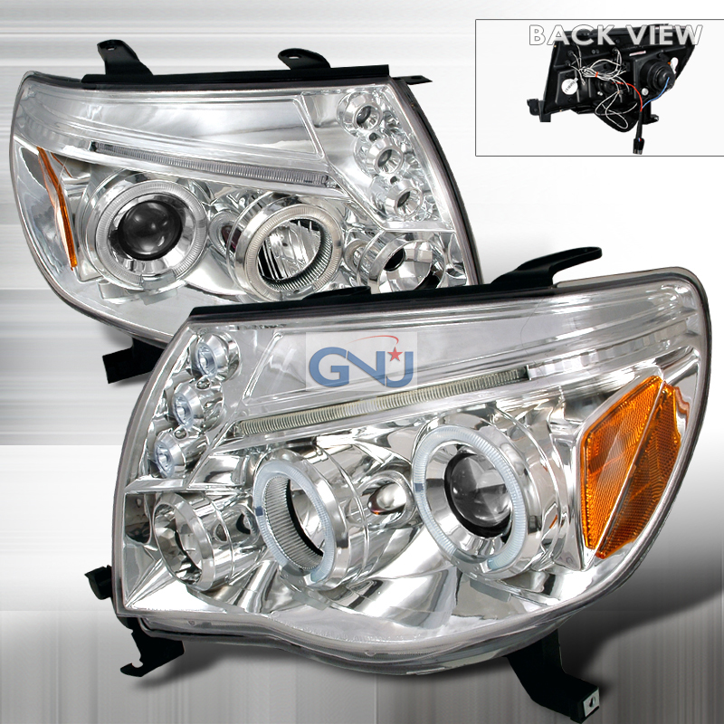 Toyota Tacoma  2005-2011 Chrome Halo Projector Headlights  W/LED'S