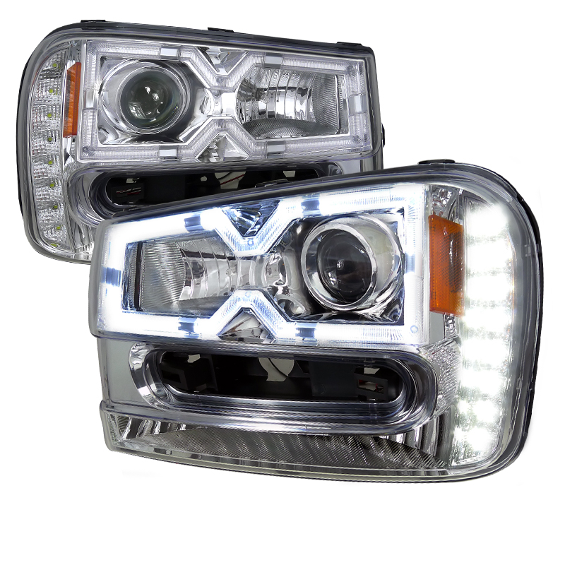 Chevrolet Trailblazer  2002-2005 Chrome  Projector Headlights