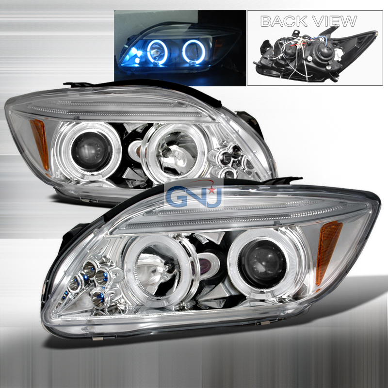Scion TC  2005-2010 Chrome Halo Projector Headlights  W/LED'S
