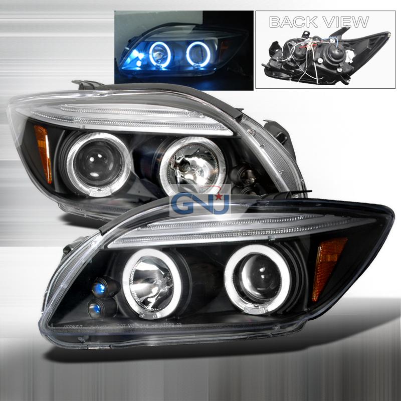 Scion TC  2005-2010 Black Halo Projector Headlights  W/LED'S