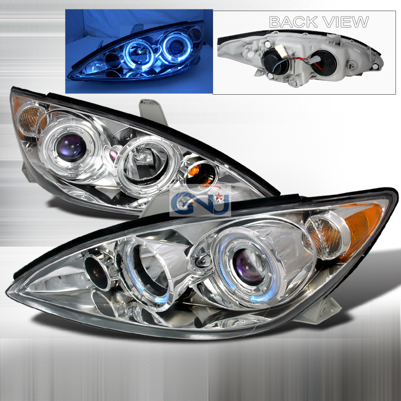 Toyota Camry 2005-2006 Halo  Projector Headlights - Chrome
