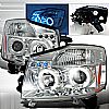 2004 Nissan Armada   Chrome Halo Projector Headlights  W/LED'S