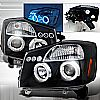 2007 Nissan Armada   Black Halo Projector Headlights  W/LED'S