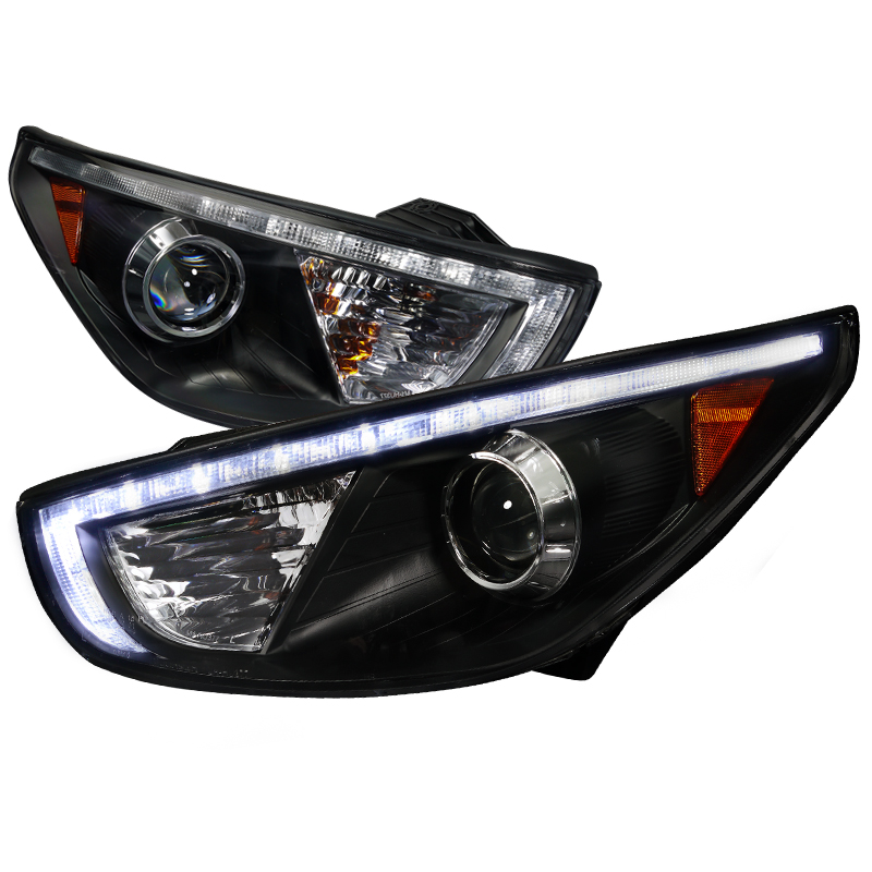 Hyundai Tucson  2010-2013 Black  Projector Headlights