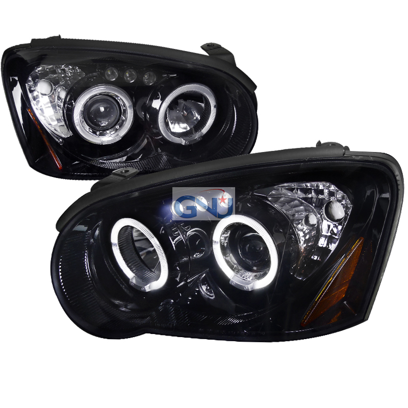 Subaru Impreza  2004-2005 Gloss Black  Projector Headlights Smoke Lens