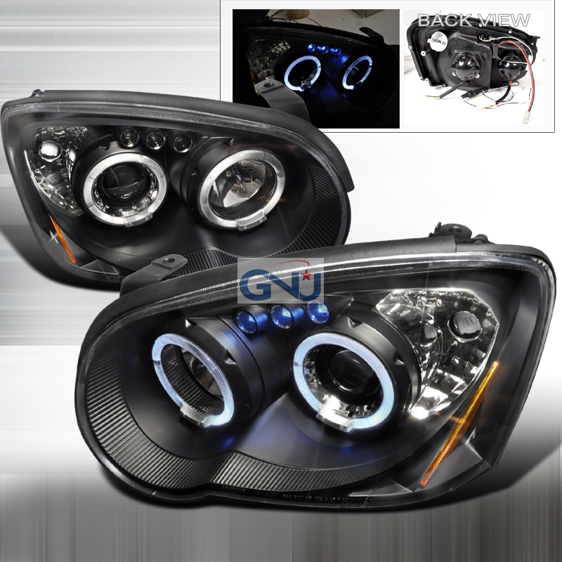 Subaru Impreza  2004-2005 Black Halo Projector Headlights  W/LED'S